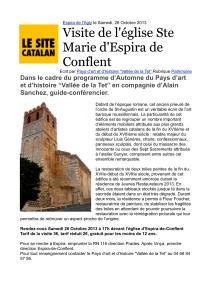 publié le 26 octobre 2013 sur la page internet du Site Catalan