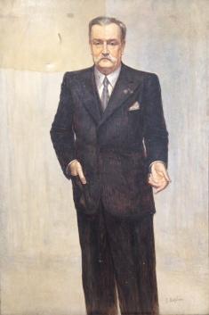 Portrait en cours d'allègement de vernis
