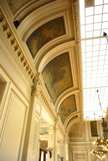 peintures du mur nord avant traitement
