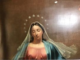 Vierge après revernissage