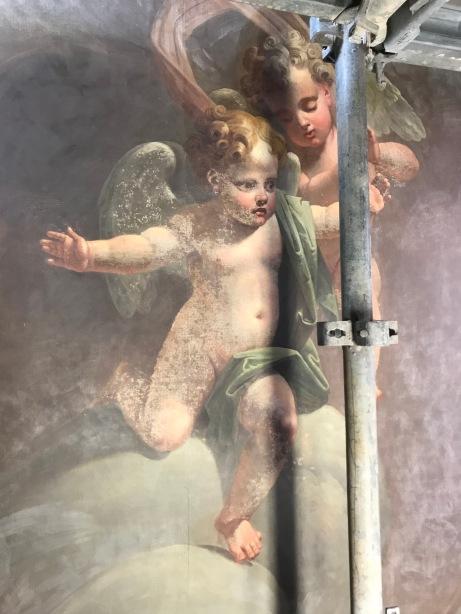 angelot après allègement de vernis