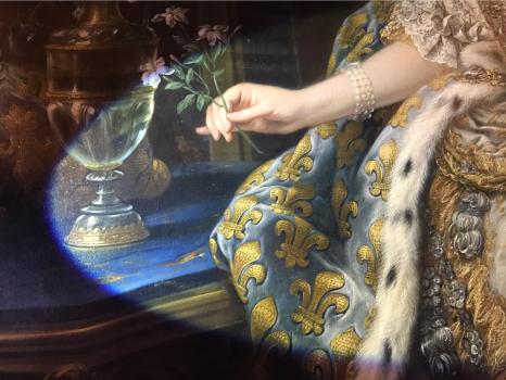 Salon de Mars, détail du portrait de Marie Leszczynska peint par Van Loo